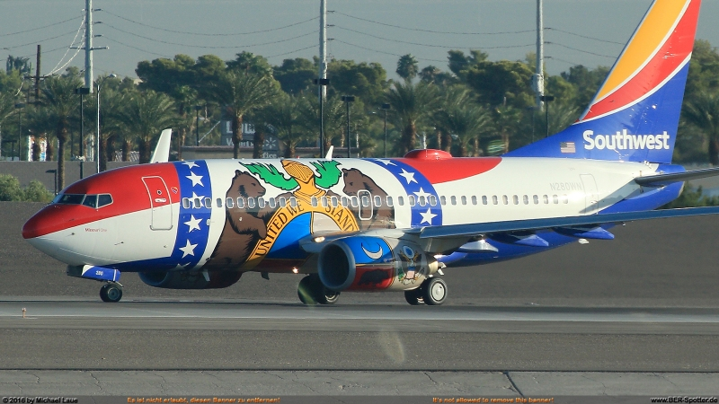 N280WN Southwest Boeing 737 'Missouri One'